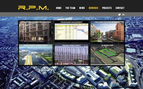 Screenshot of Services Page realpm.co.uk - Services | RPM - captured Oct. 7, 2014