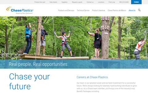Screenshot of Jobs Page chaseplastics.com - Careers - Chase Plastics - captured July 17, 2018