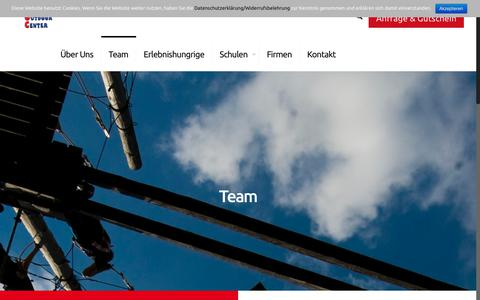 Screenshot of Team Page rennsteig-outdoor-center.com - Team | Rennsteig Outdoor Center - captured May 31, 2018