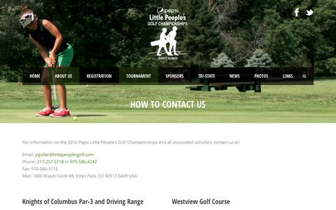 Screenshot of Maps & Directions Page littlepeoplesgolf.com - How To Contact Us | Little People's Golf Tournament - captured June 9, 2016