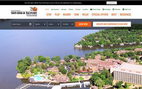 Screenshot of Home Page tan-tar-a.com - Osage Beach, MO - Tan-Tar-A Resort at the Lake of the Ozarks - captured Nov. 19, 2018