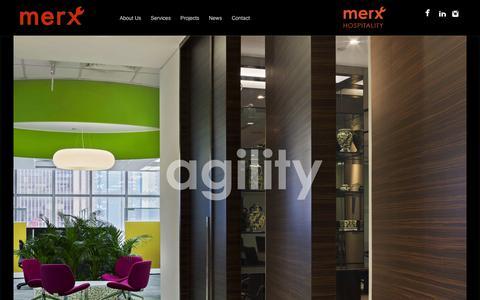 Screenshot of Home Page merxcm.com - Merx - Construction Management - captured Oct. 6, 2014