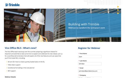 Screenshot of Landing Page trimble.com captured Oct. 27, 2017