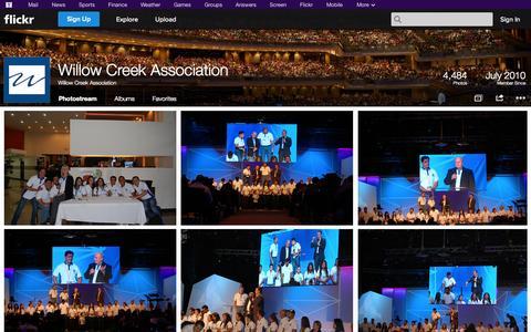 Screenshot of Flickr Page flickr.com - Flickr: Willow Creek Association's Photostream - captured Oct. 26, 2014
