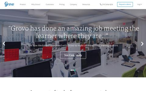 Learning Management System | Employee Training Content  - Grovo