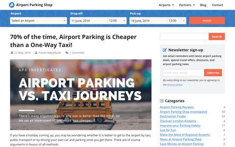Screenshot of Blog airport-parking-shop.co.uk - Airport Parking Shop Blog - Comparing Parking Prices - captured June 9, 2019