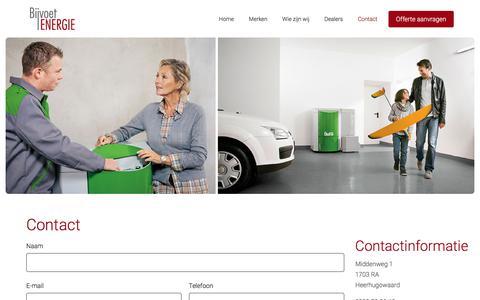Screenshot of Contact Page bijvoetenergie.nl - Contact - Bijvoet - captured Aug. 2, 2018