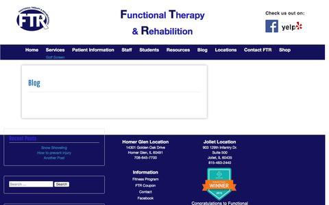 Screenshot of Blog functionaltherapy.net - Blog – FTR - captured Nov. 25, 2016