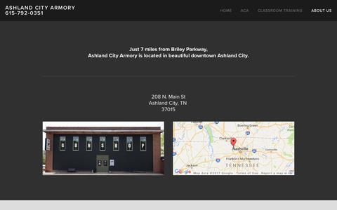 Screenshot of Locations Page ashlandcityarmory.com - Location — Ashland City Armory  615-792-0351 - captured May 30, 2017
