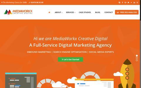 Screenshot of Home Page mediaworkx.co.uk - MediaWorkx Creative Digital A Full-Service Digital Marketing Agency in Coventry UK - captured June 27, 2017