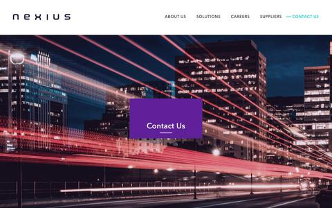 Screenshot of Contact Page nexius.com - Contact Us - Nexius - captured June 11, 2019