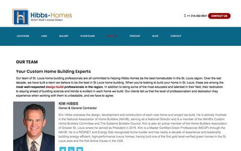 Screenshot of Team Page hibbshomes.com - Home Building Experts - St. Louis  Hibbs Homes - captured Nov. 11, 2019