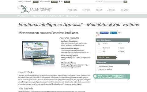 Emotional Intelligence Appraisal Multi-Rater & 360 Editions