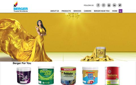 Screenshot of Home Page bergerbd.com - Home Page - Berger Paints Bangladesh Limited - captured Dec. 18, 2018