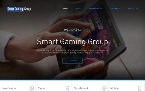 Screenshot of Home Page smartgaminggroup.com - Smart Gaming Group | Corporate Site - captured Aug. 17, 2015