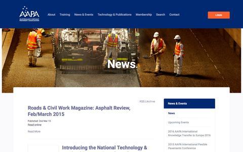 Screenshot of Press Page aapa.asn.au - - AAPA - Australian Asphalt Pavement Association - captured Feb. 4, 2016