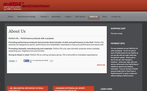 Screenshot of About Page nomorefumbles.com - About Us - captured Oct. 2, 2014