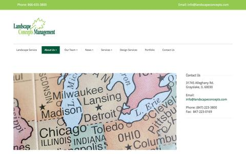 Screenshot of Locations Page landscapeconcepts.com - Locations – Landscape Concepts Management - captured Oct. 17, 2016