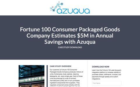 Screenshot of Landing Page azuqua.com - Azuqua - captured March 10, 2017