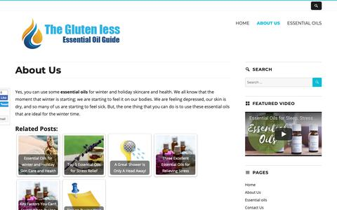 Screenshot of About Page theglutenless.com - About Us | The Gluten less - captured Sept. 29, 2018