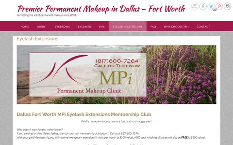 Dallas Fort Worth MPi Eyelash Extensions Membership Club