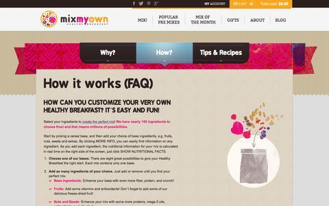 Screenshot of FAQ Page mixmyown.com - How it works (FAQ) - MixMyOwn.com - captured Oct. 26, 2014