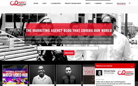 Ideas Blog | Agency Entourage
