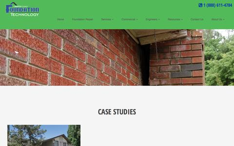 Screenshot of Case Studies Page foundationtechnology.com - Case Studies - Foundation Technology : Foundation Technology - captured Aug. 21, 2018