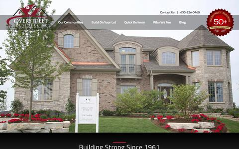 Screenshot of Site Map Page overstreetbuilders.com - Overstreet Builders | New Homes in Chicago Illinois - captured Oct. 26, 2014