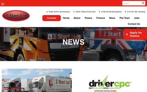 Screenshot of Press Page 2start-training.com - For all your local driver and forklift training news at 2 Start Training - captured Oct. 19, 2018