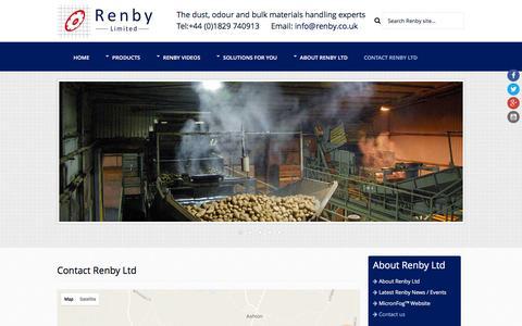 Screenshot of Contact Page renby.co.uk - Contact Renby Ltd   Contact Renby UK   Renby Ltd - captured Dec. 19, 2016