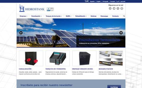 Screenshot of Home Page hidrostank.com - Hidrostank - captured Oct. 1, 2014