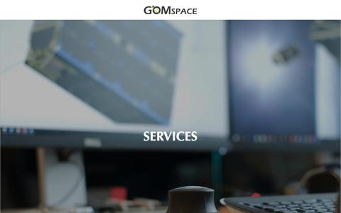 Screenshot of Services Page gomspace.com - GOMspace | Services - captured July 21, 2018