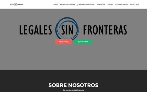 Screenshot of Home Page legalessinfronteras.com - Legales Sin Fronteras - captured Dec. 8, 2015