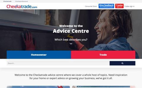 Screenshot of Blog checkatrade.com - Home - Checkatrade Blog - captured Dec. 13, 2018