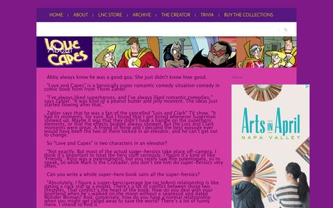 Screenshot of About Page loveandcapes.com - Love and Capes » About - captured March 28, 2016