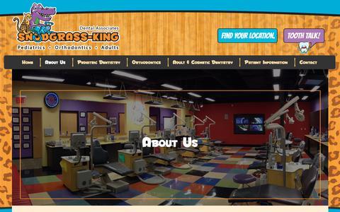 Screenshot of About Page snodgrassking.com - About Snodgrass-King Dental Associates - captured Oct. 18, 2018