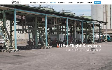 Screenshot of Services Page garuda.io - Services   Garuda Robotics - captured Sept. 27, 2018