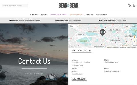 Screenshot of Contact Page bearandbear.com - Contact Us | Bear & Bear - captured Nov. 11, 2016
