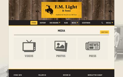 Screenshot of Press Page fmlight.com - Media | F.M. Light & Sons - captured Oct. 4, 2014