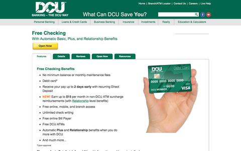 Free Checking | DCU | Massachusetts | New Hampshire