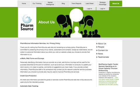 Screenshot of Privacy Page pharmsource.com - Privacy Policy | PharmSource - captured Oct. 28, 2014