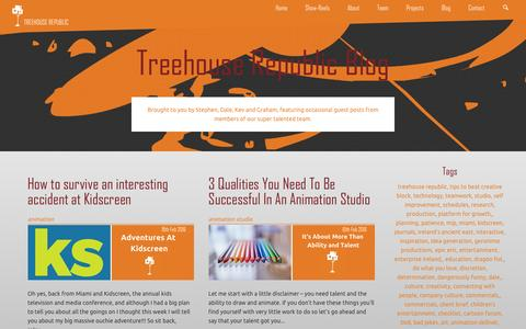 Screenshot of Blog treehouserepublic.com - Blog | Treehouse Republic - captured Feb. 24, 2016