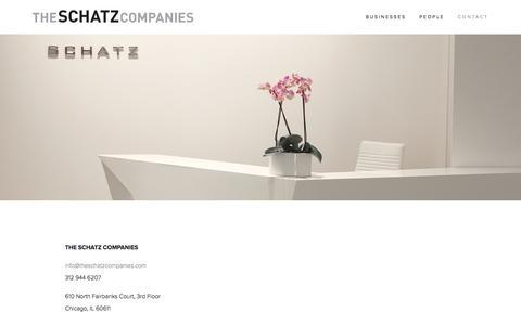 Screenshot of Contact Page theschatzcompanies.com - Contact — The Schatz Companies - captured May 24, 2016
