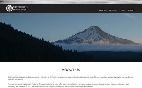 Screenshot of About Page northp.com - About Us | Management in Portland, OR | North Pacific Management - captured Oct. 18, 2018