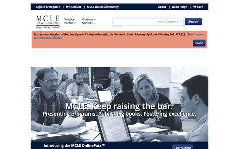 MCLE | New England: CLE Programs, Webcasts and Publications