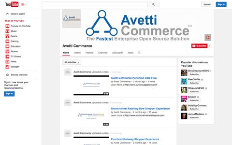 Screenshot of YouTube Page youtube.com - Avetti Commerce  - YouTube - captured Oct. 23, 2014