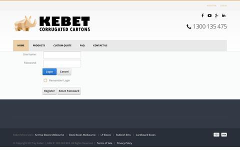 Screenshot of Login Page kebet.com.au - User Log In - captured July 2, 2017