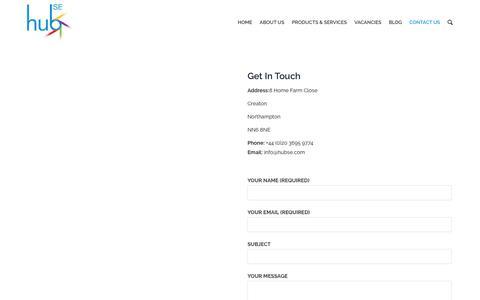 Screenshot of Contact Page hubse.com - Contact Us | HubSE – Demurrage Software - captured Nov. 11, 2018