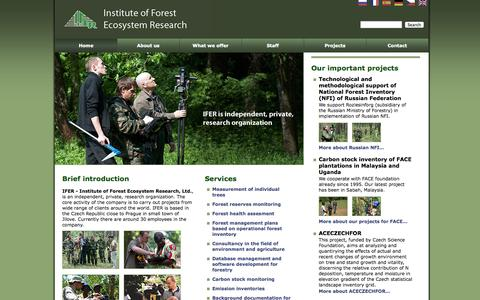Screenshot of Home Page ifer.cz captured Sept. 30, 2014